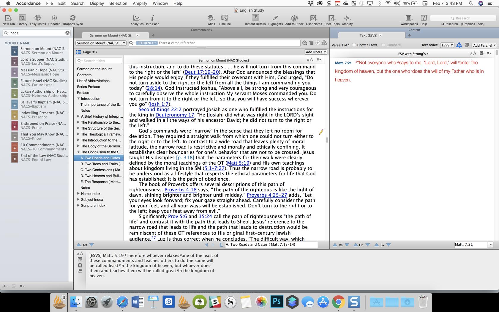 NACS in Accordance Bible Software