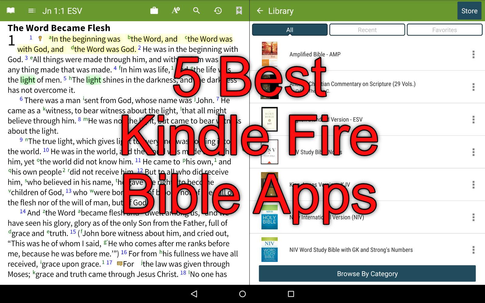 5 best kindle fire bible apps