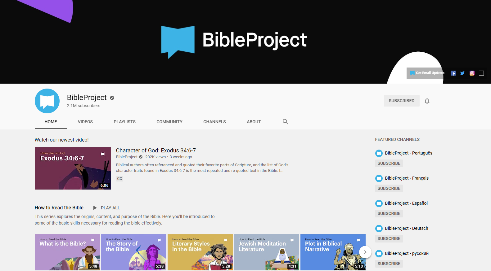 the bible proejct