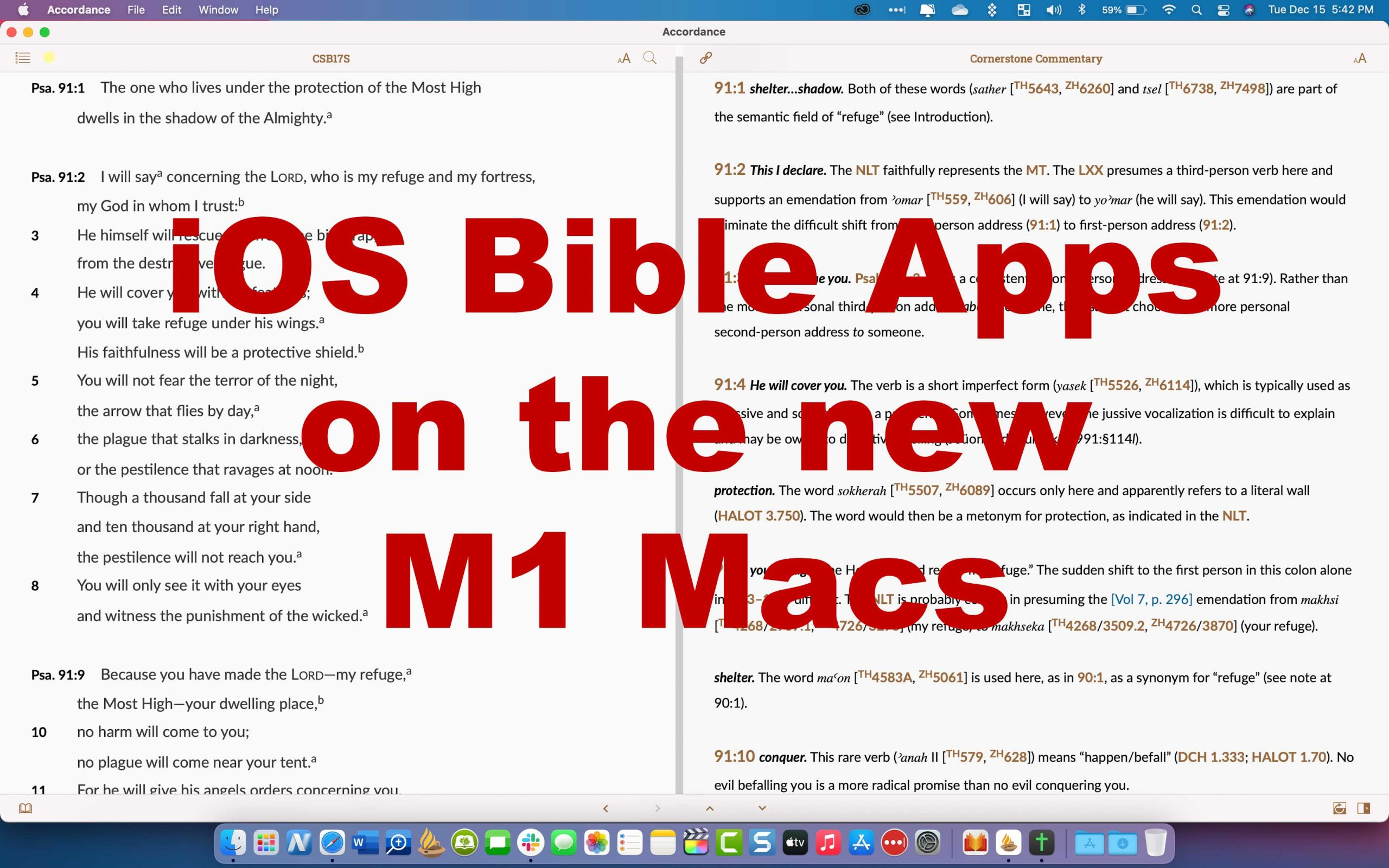 ios bible apps on m1 macs